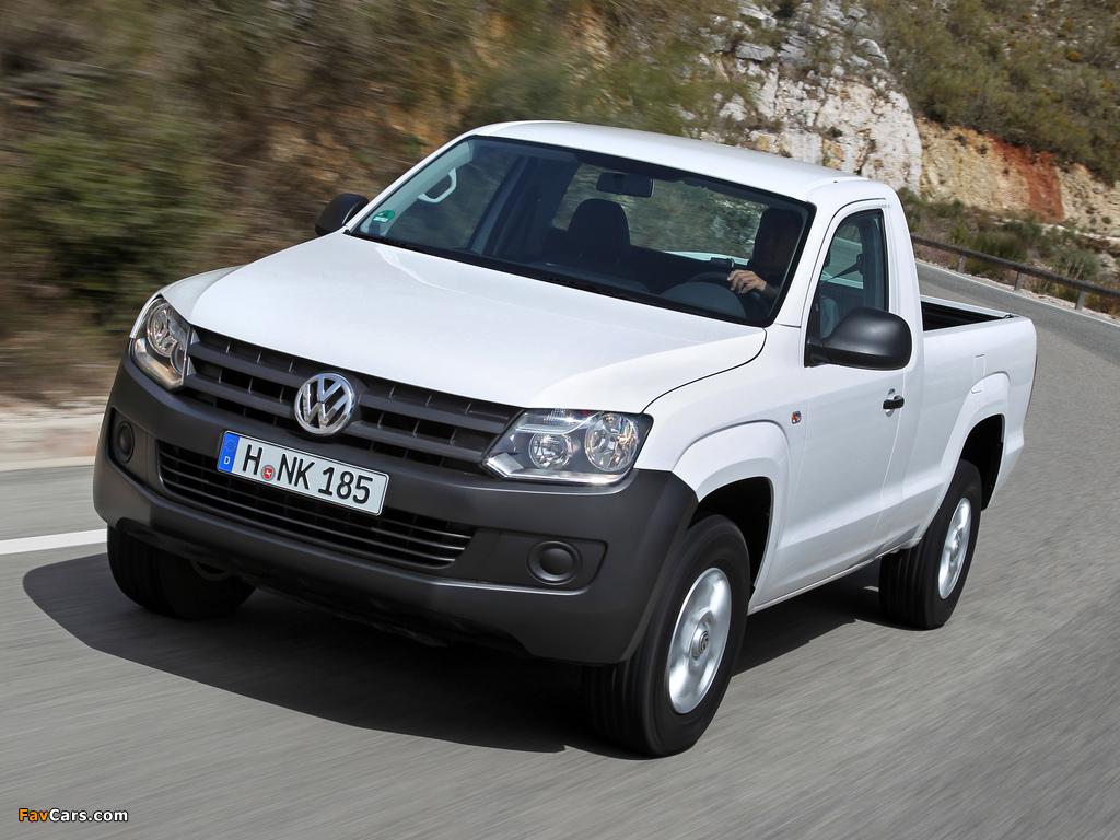 Volkswagen Amarok Single Cab Comfortline 2010 images (1024 x 768)
