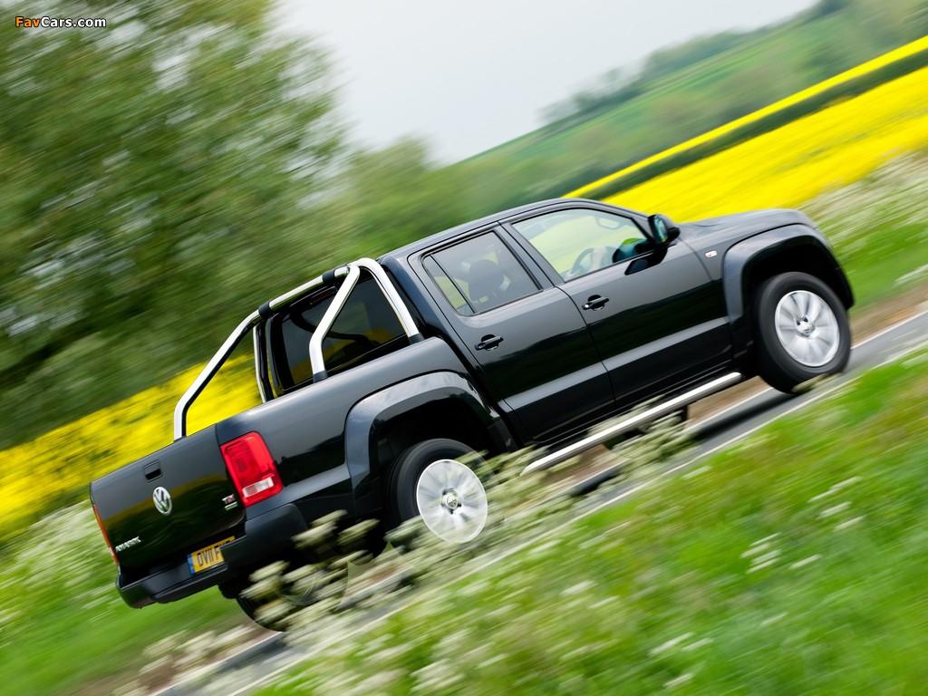 Volkswagen Amarok Double Cab Trendline UK-spec 2010 wallpapers (1024 x 768)