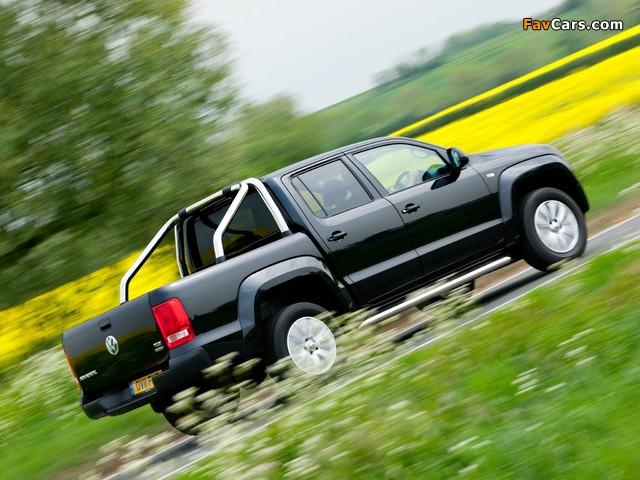 Volkswagen Amarok Double Cab Trendline UK-spec 2010 wallpapers (640 x 480)