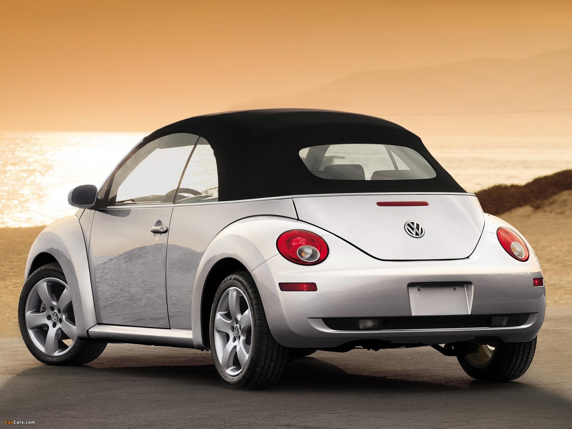 Images of Volkswagen New Beetle Convertible 2006–10 (1920 x 1440)