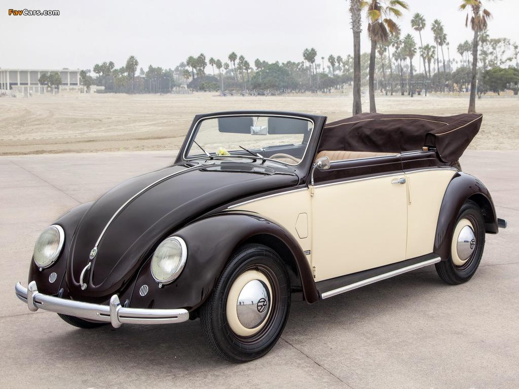 Photos of Volkswagen Käfer Karmann Cabriolet (Typ 15) 1949–53 (1024 x 768)
