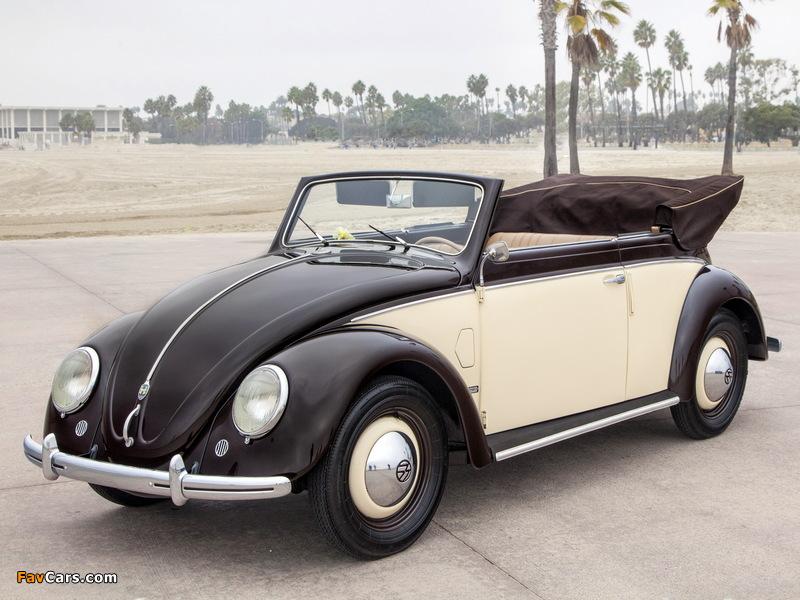 Photos of Volkswagen Käfer Karmann Cabriolet (Typ 15) 1949–53 (800 x 600)