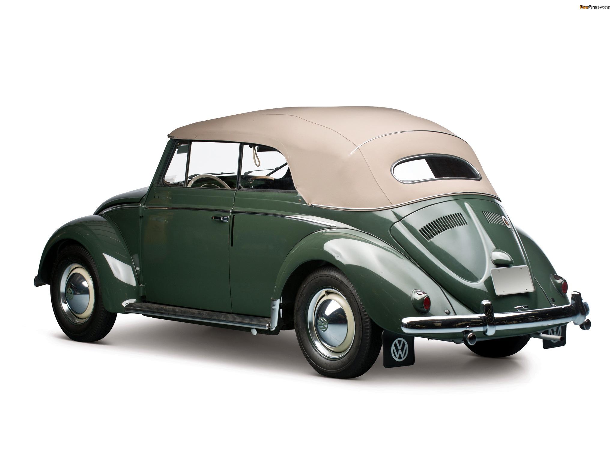 Photos of Volkswagen Beetle Convertible 1953–57 (2048 x 1536)