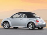 Photos of Volkswagen New Beetle Convertible 2000–05