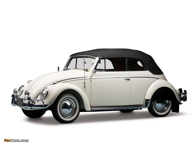 Pictures of Volkswagen Beetle Convertible US-spec 1959 (800 x 600)