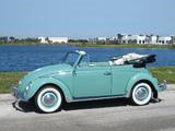 Pictures of Volkswagen Beetle Convertible (Type 1) 1962–68