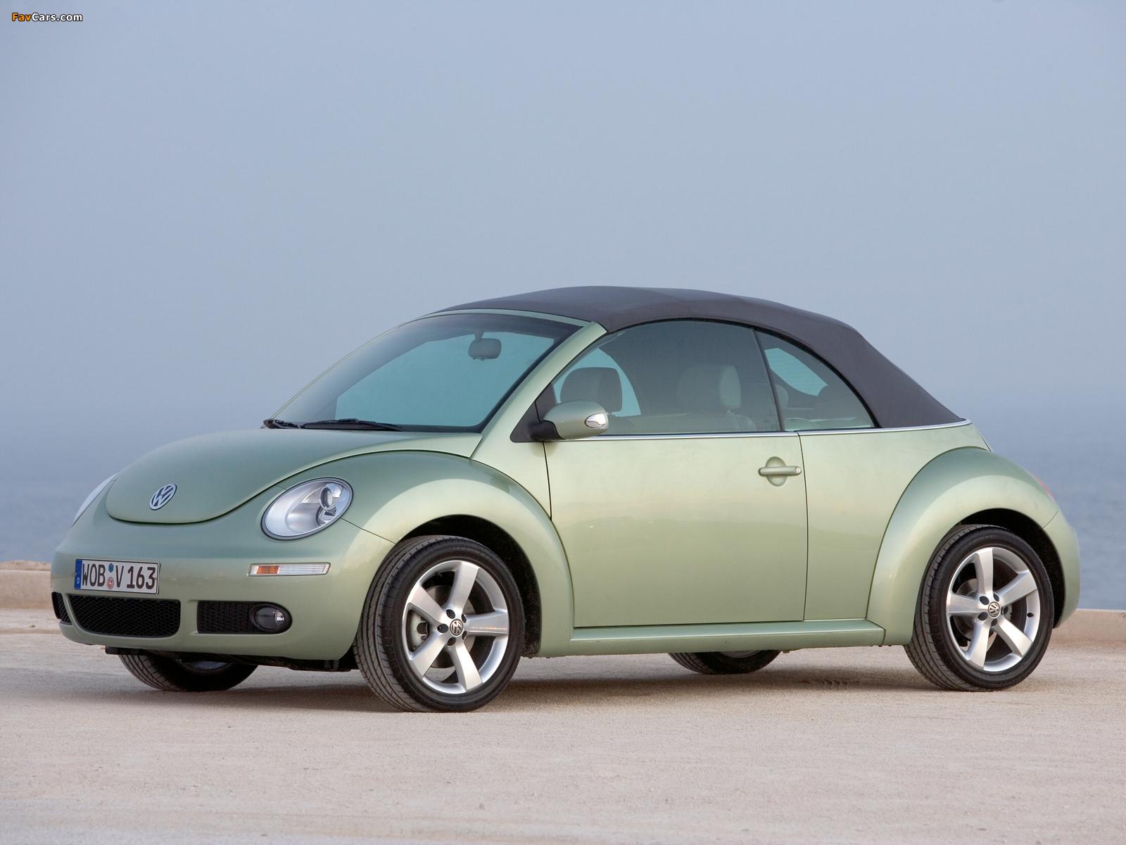 Pictures of Volkswagen New Beetle Cabrio 2006–10 (1600 x 1200)