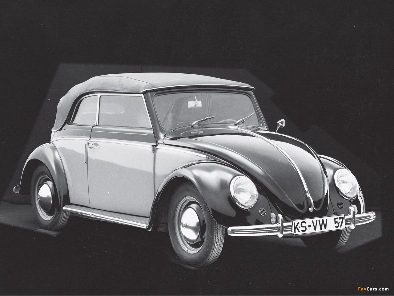 Volkswagen Käfer Karmann Cabriolet (Typ 15) 1949–53 images (1280 x 960)