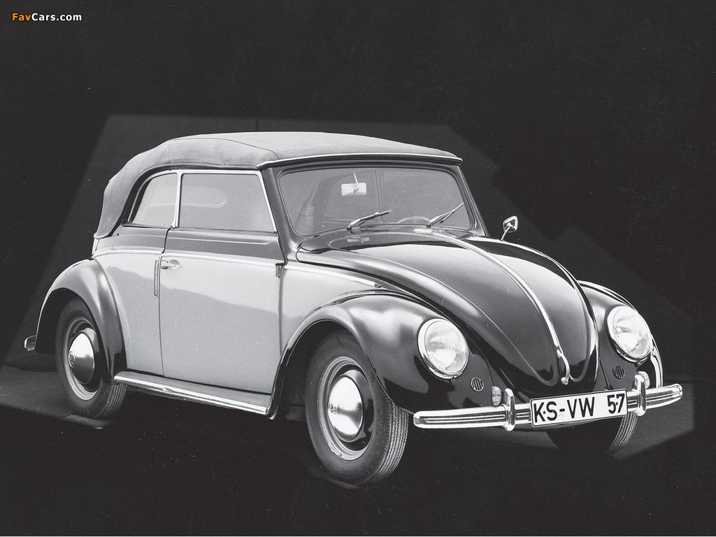 Volkswagen Käfer Karmann Cabriolet (Typ 15) 1949–53 images (1024 x 768)