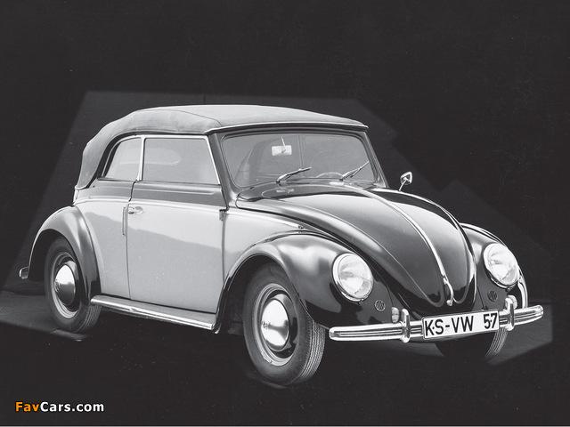 Volkswagen Käfer Karmann Cabriolet (Typ 15) 1949–53 images (640 x 480)