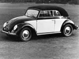 Volkswagen Käfer Karmann Cabriolet (Typ 15) 1949–53 pictures