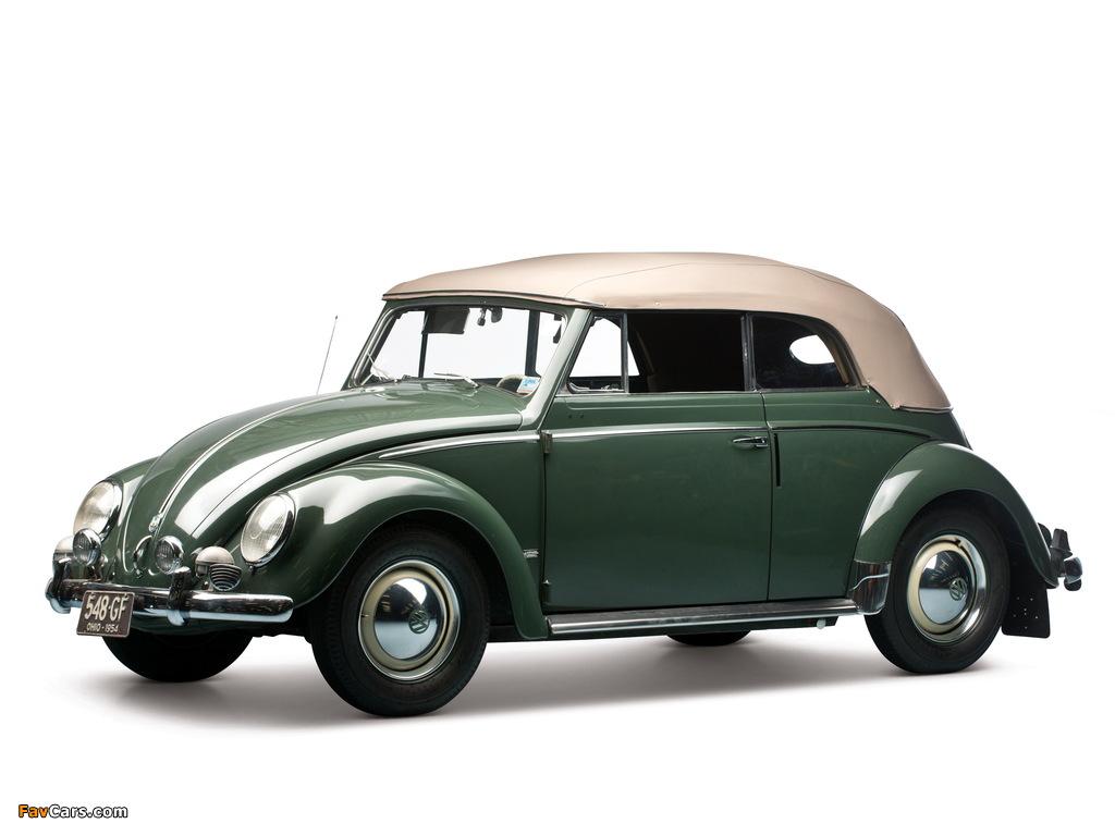 Volkswagen Beetle Convertible 1953–57 pictures (1024 x 768)