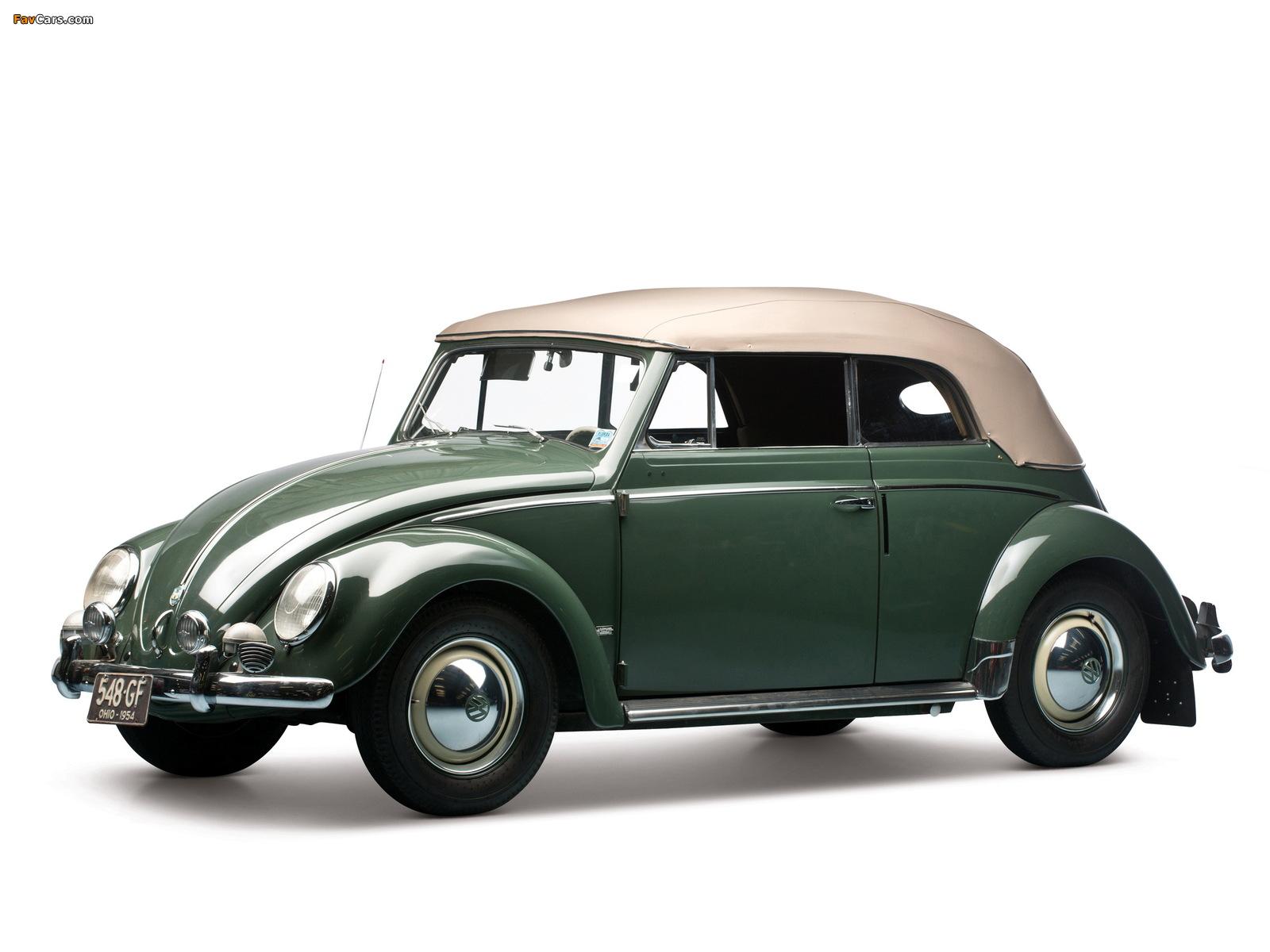 Volkswagen Beetle Convertible 1953–57 pictures (1600 x 1200)