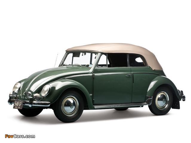 Volkswagen Beetle Convertible 1953–57 pictures (640 x 480)