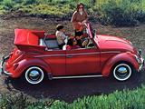 Volkswagen Beetle Convertible (Type 1) 1962–68 photos