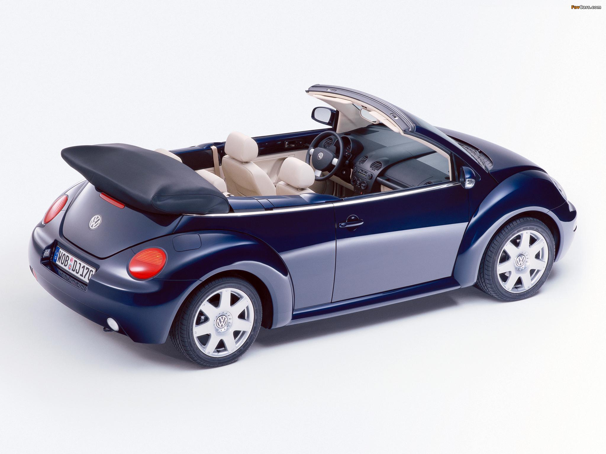 Volkswagen New Beetle Cabrio 2000–05 pictures (2048 x 1536)