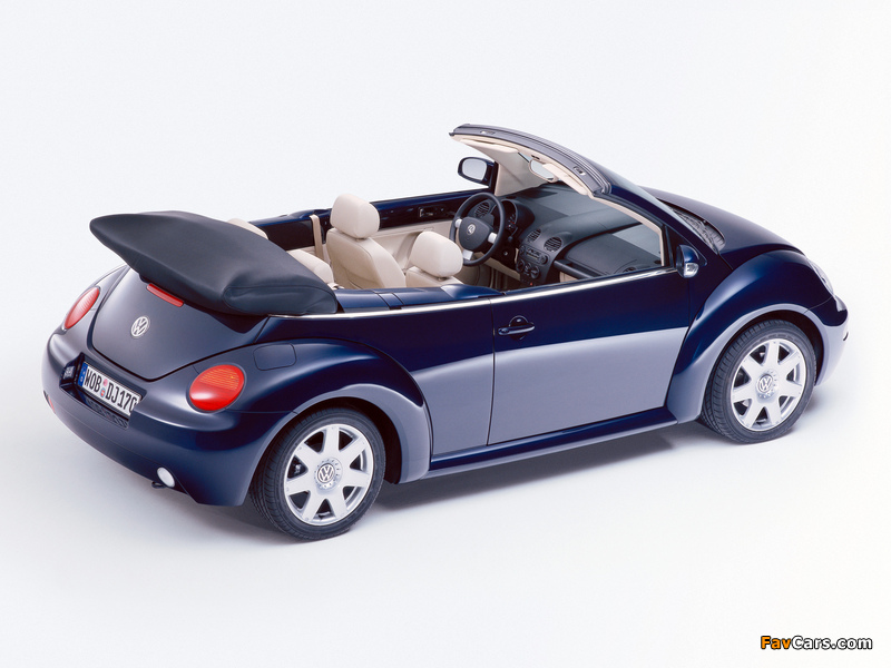 Volkswagen New Beetle Cabrio 2000–05 pictures (800 x 600)