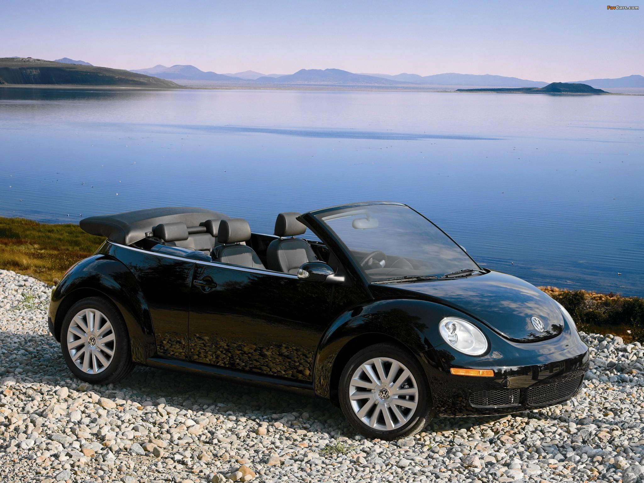 Volkswagen New Beetle Convertible 2006–10 photos (2048 x 1536)