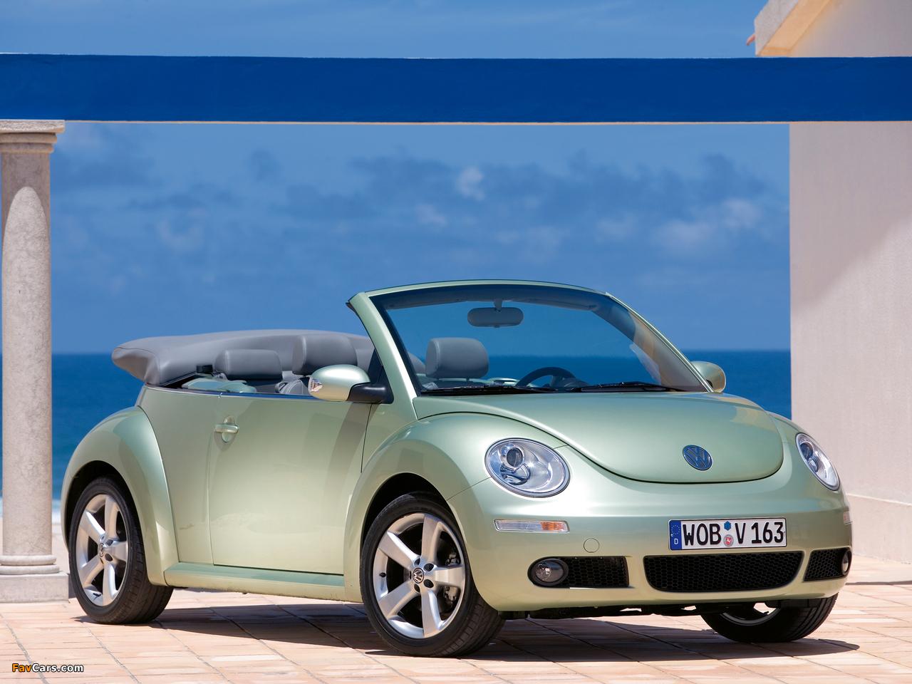 Volkswagen New Beetle Cabrio 2006–10 photos (1280 x 960)