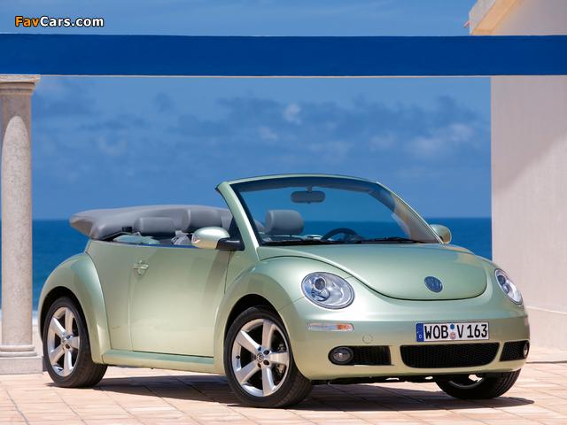 Volkswagen New Beetle Cabrio 2006–10 photos (640 x 480)