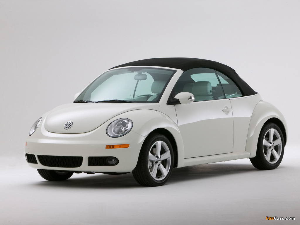 Volkswagen New Beetle Convertible Triple White 2007 photos (1024 x 768)