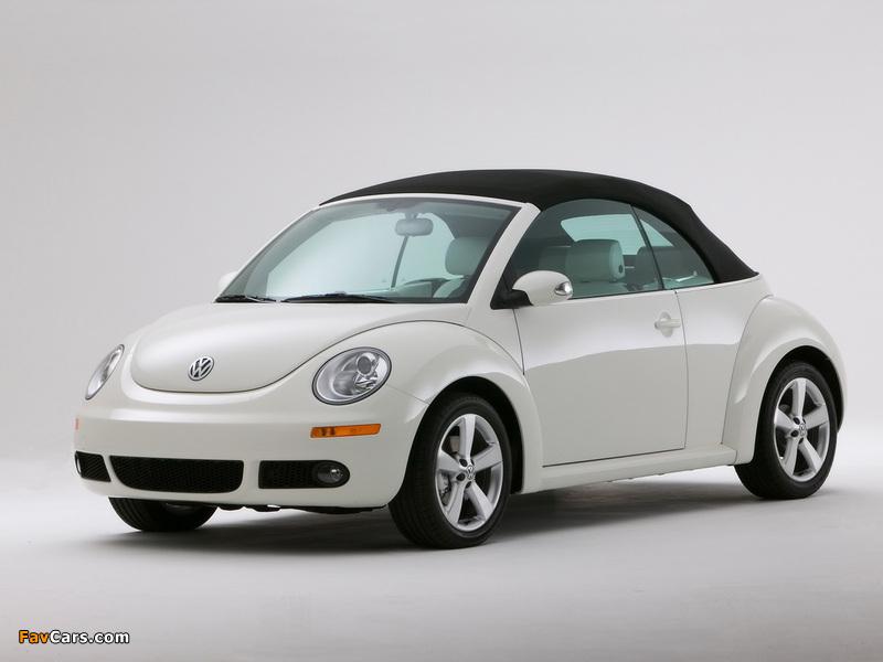 Volkswagen New Beetle Convertible Triple White 2007 photos (800 x 600)