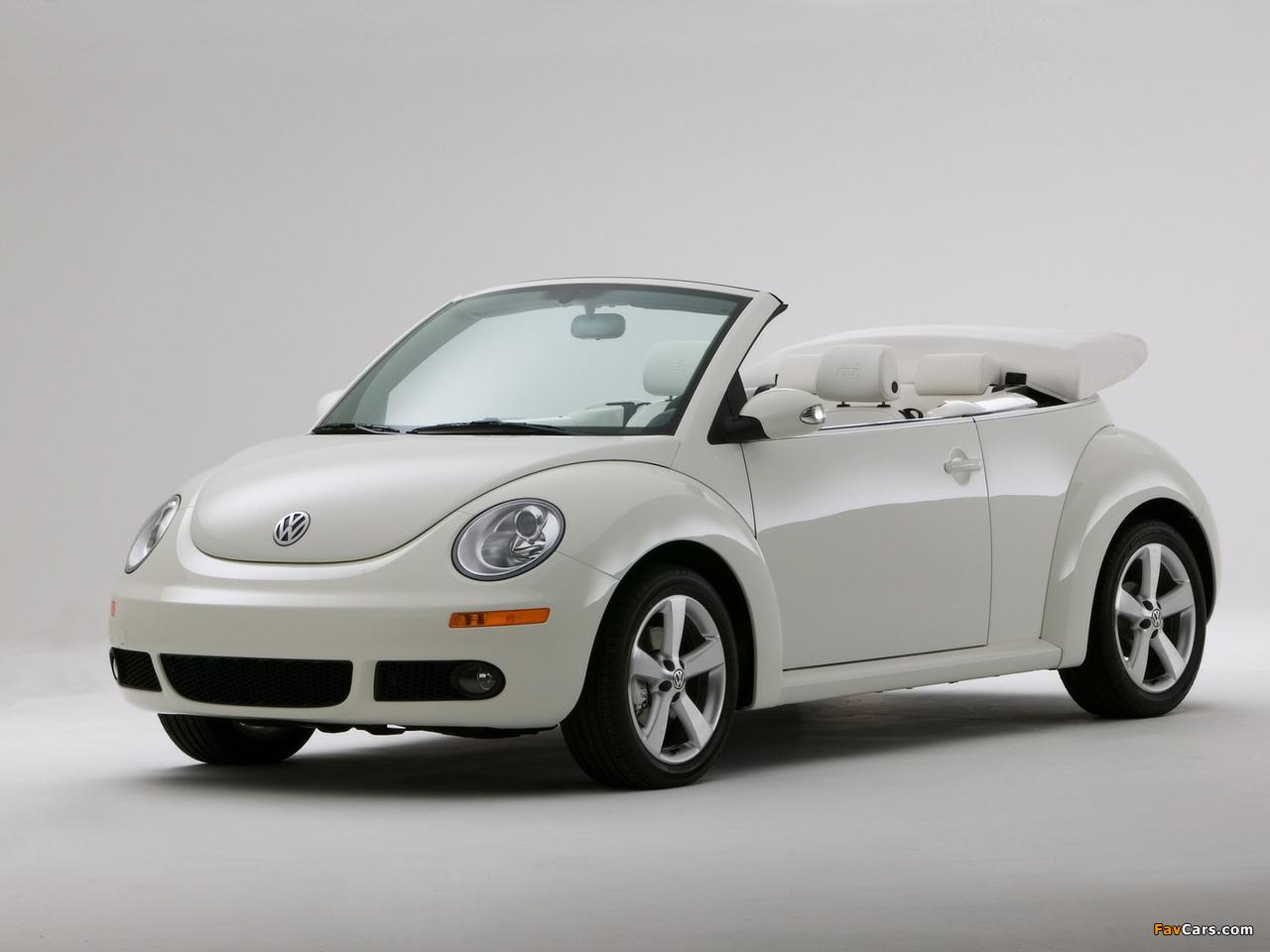 Volkswagen New Beetle Convertible Triple White 2007 photos (1280 x 960)