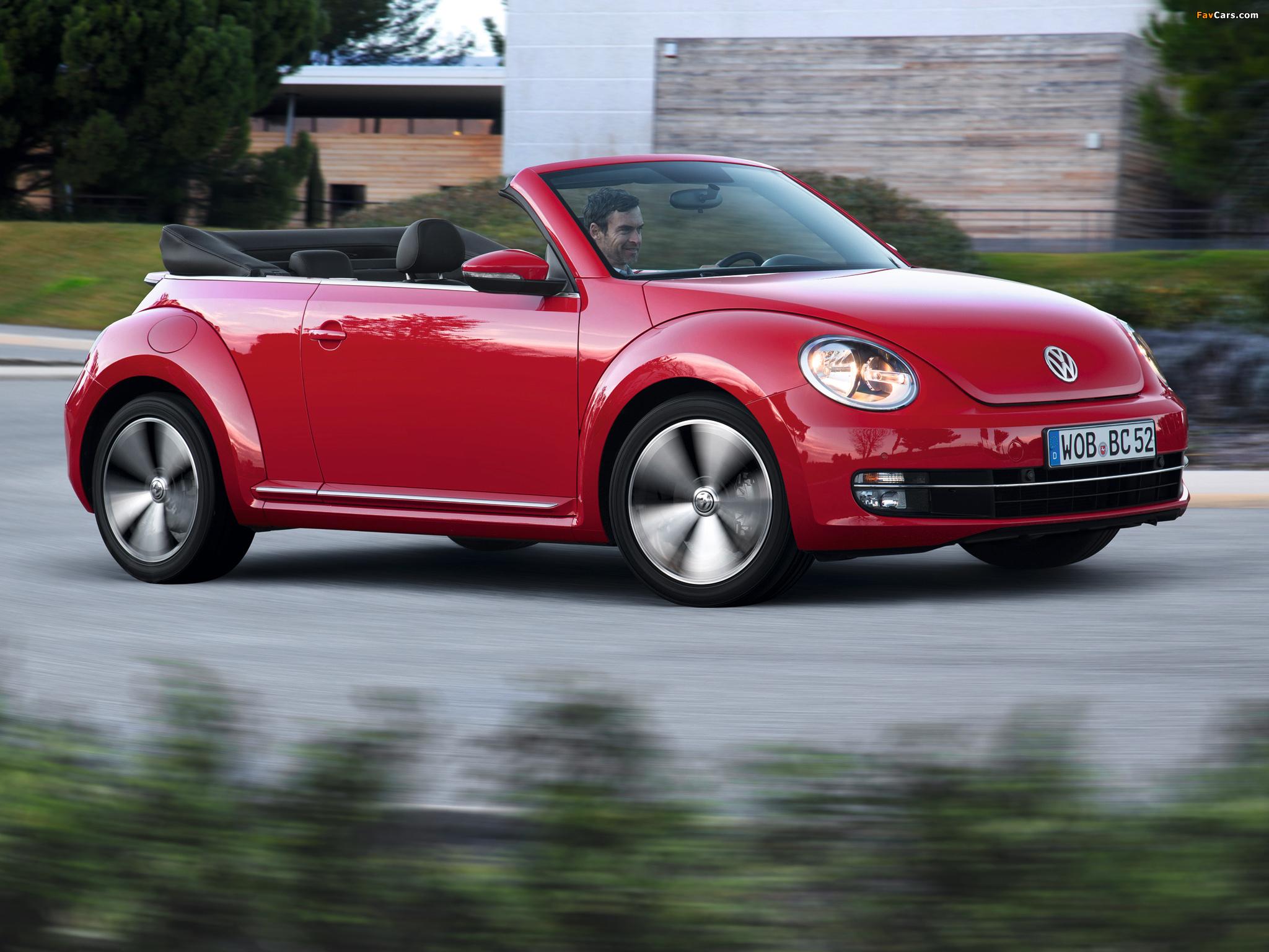 Volkswagen Beetle Cabrio 2012 wallpapers (2048 x 1536)