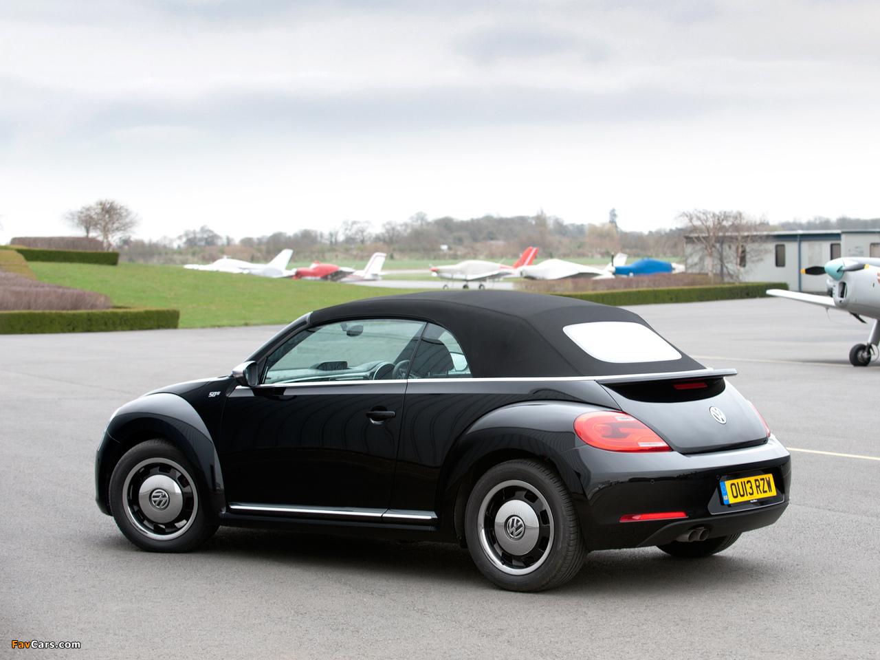Volkswagen Beetle Cabrio 50s Edition UK-spec 2013 wallpapers (1280 x 960)