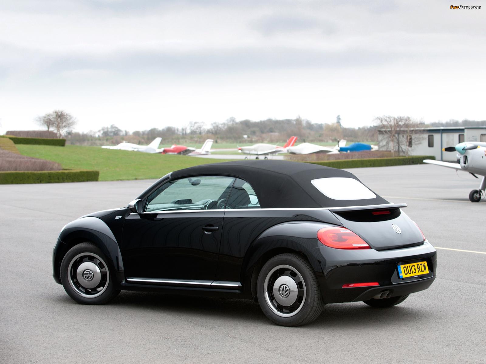 Volkswagen Beetle Cabrio 50s Edition UK-spec 2013 wallpapers (1600 x 1200)