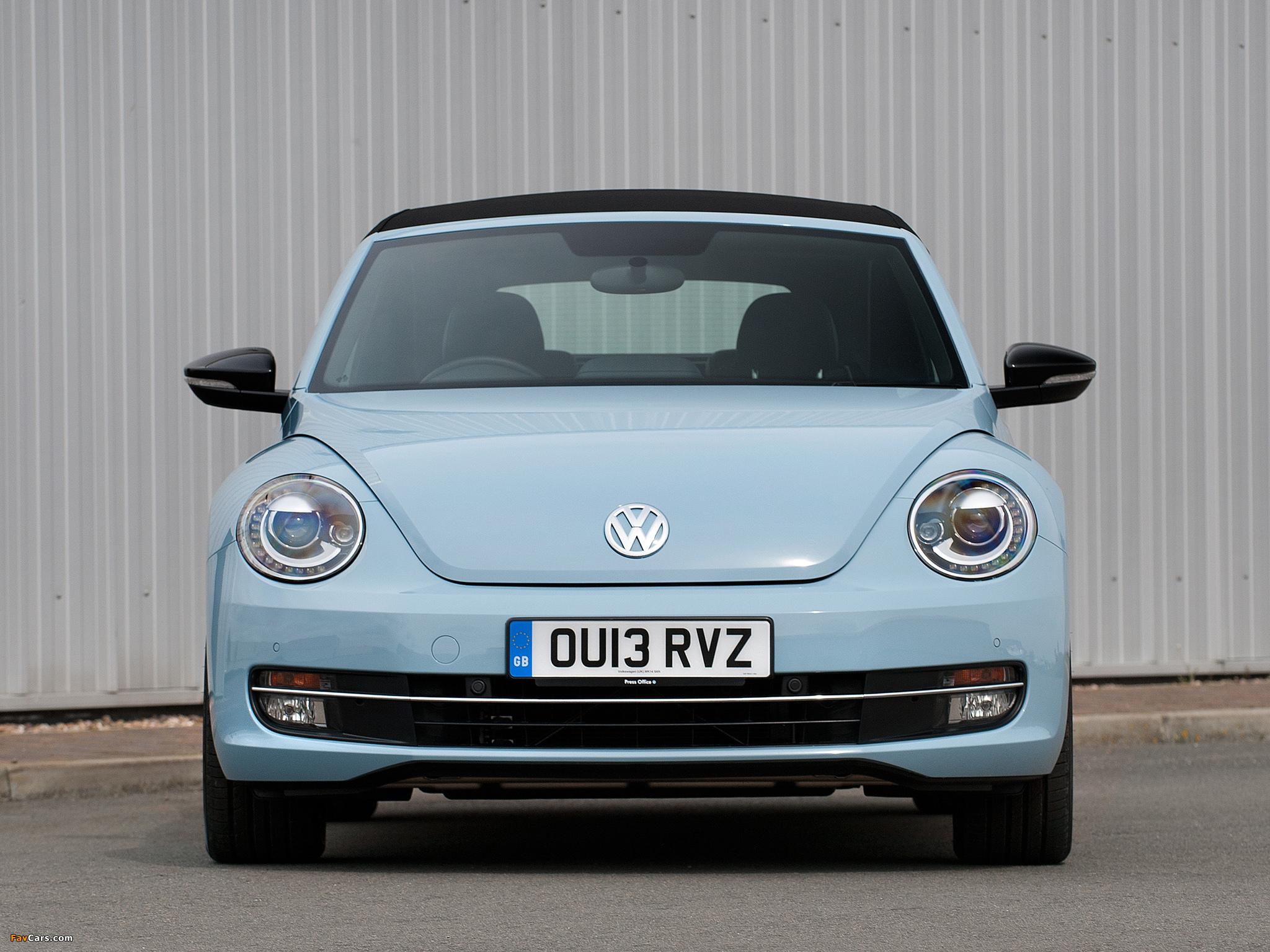Volkswagen Beetle Cabrio UK-spec 2013 wallpapers (2048 x 1536)