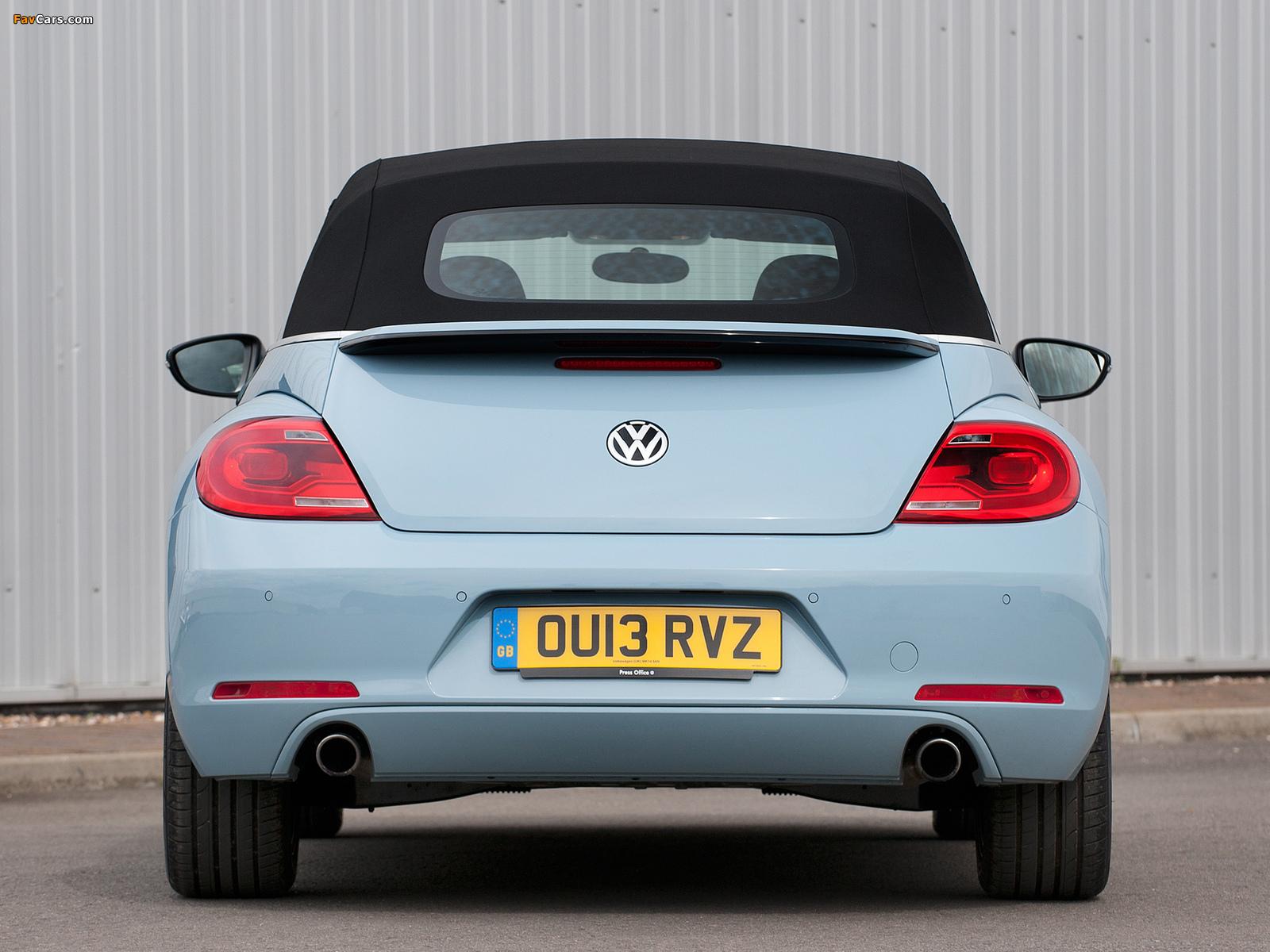Volkswagen Beetle Cabrio UK-spec 2013 wallpapers (1600 x 1200)