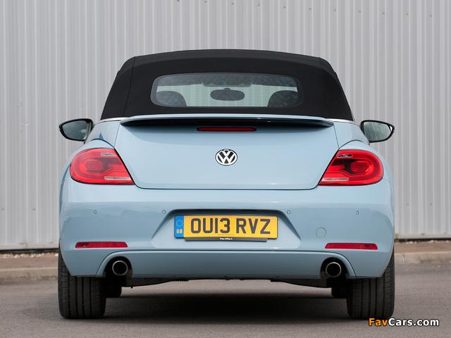 Volkswagen Beetle Cabrio UK-spec 2013 wallpapers (640 x 480)