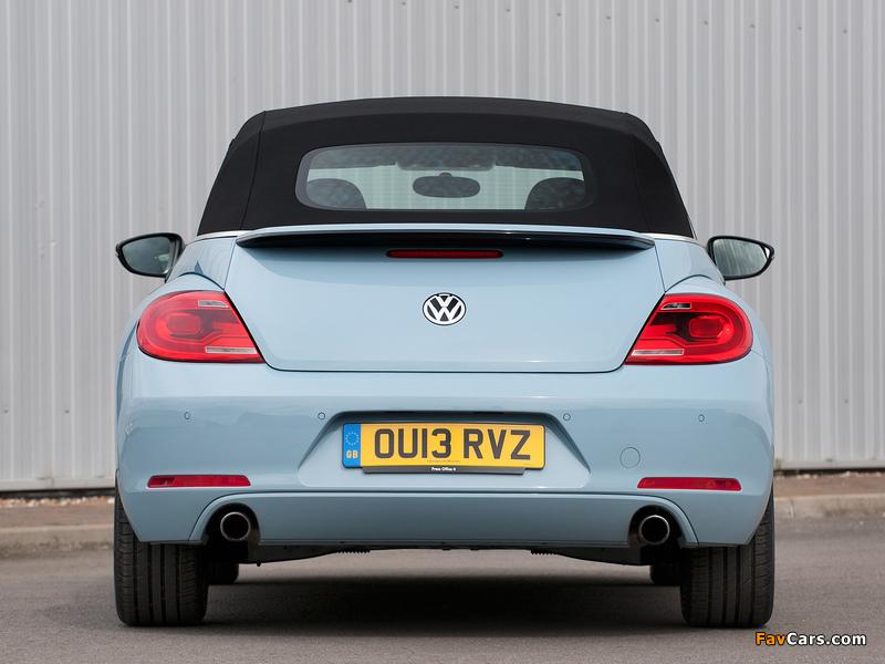 Volkswagen Beetle Cabrio UK-spec 2013 wallpapers (800 x 600)