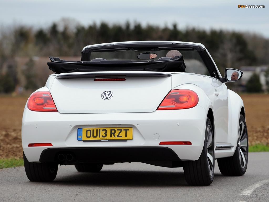 Volkswagen Beetle Cabrio 60s Edition UK-spec 2013 wallpapers (1024 x 768)