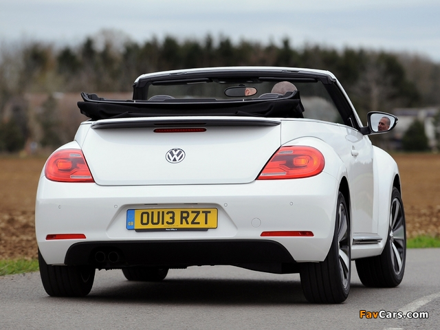 Volkswagen Beetle Cabrio 60s Edition UK-spec 2013 wallpapers (640 x 480)