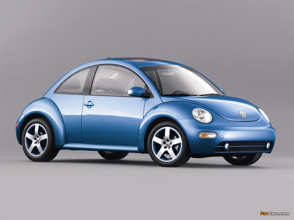 Volkswagen New Beetle Satellite Blue 2004 wallpapers (1024 x 768)