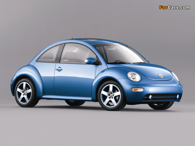 Volkswagen New Beetle Satellite Blue 2004 wallpapers (640 x 480)