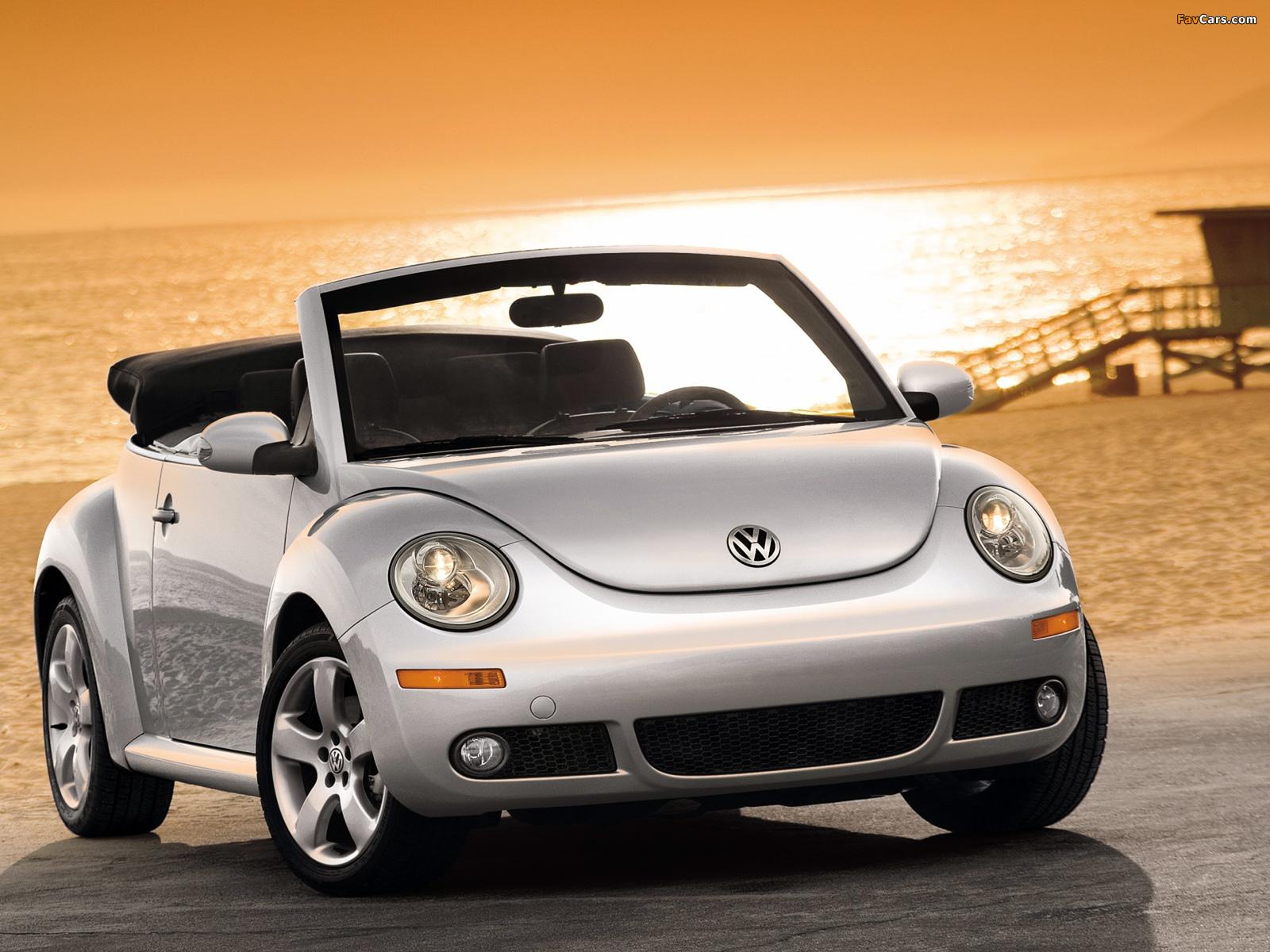 Volkswagen New Beetle Convertible 2006–10 wallpapers (1600 x 1200)