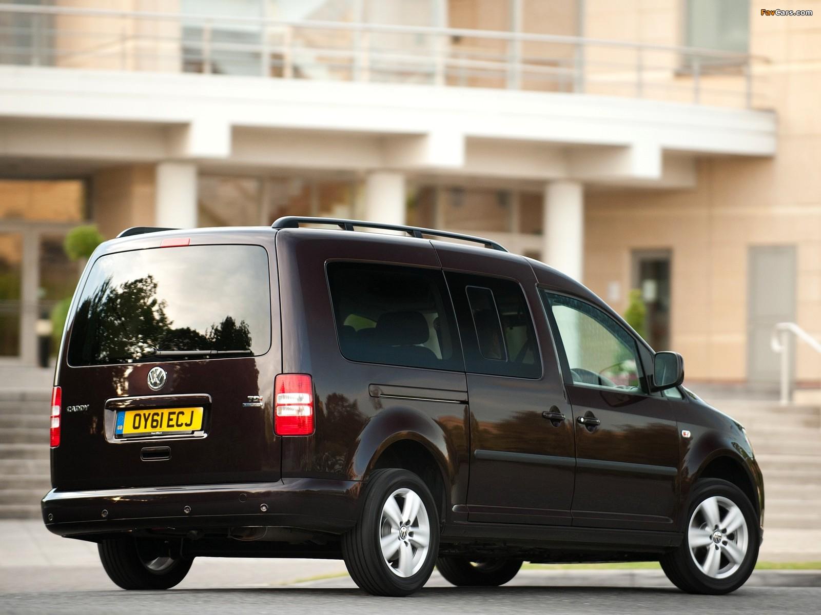 Images of Volkswagen Caddy Maxi Life UK-spec (Type 2K) 2010 (1600 x 1200)