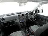 Volkswagen Caddy Kasten AU-spec (Type 2K) 2010 pictures