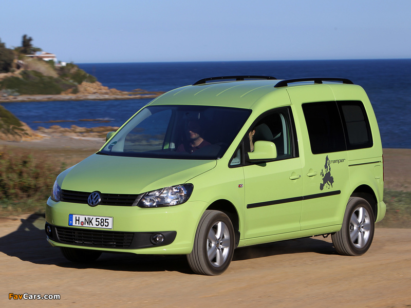 volkswagen caddy tramper type 2k 2010 wallpapers 800x600. Black Bedroom Furniture Sets. Home Design Ideas