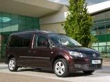 Volkswagen Caddy Maxi Life UK-spec (Type 2K) 2010 wallpapers