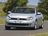 Images of Volkswagen Golf Cabrio AU-spec (Typ 5K) 2011