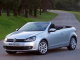 Images of Volkswagen Golf Cabrio ZA-spec (Typ 5K) 2012