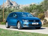 Images of Volkswagen Golf TDI BlueMotion 5-door UK-spec (Typ 5G) 2012