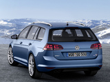 Images of Volkswagen Golf TSI BlueMotion Variant (Typ 5G) 2013