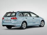 Images of Volkswagen Golf TDI BlueMotion Variant (Typ 5G) 2013