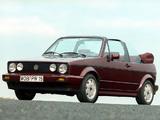 Photos of Volkswagen Golf Cabrio Etienne Aigner (Typ 17) 1990