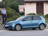 Photos of Volkswagen Golf TSI BlueMotion 5-door (Typ 5G) 2012